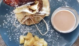 Aumônières pommes caramélisées sauce carambar