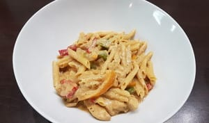 Chicken fajitas pasta