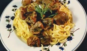 Rognon de veau aux champignons, sauce porto-estragon
