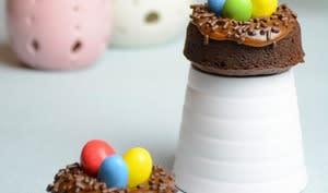 Nids de Pâques chocolat et praliné