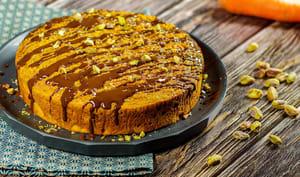 Carrot cake à la pistache et aux noisettes