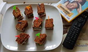 Mini clubs sandwich magret canard figues séchées