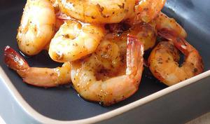 Crevettes laquées pour l'apéritif