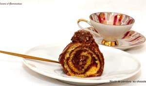 Roulé de pandoro au chocolat