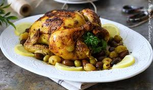 Poulet à la marocaine et olives