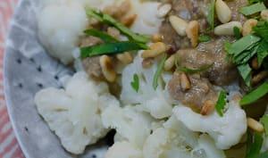 Salade de chou-fleur, sauce aux anchois