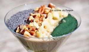 Crème dessert au fonio et kiwi