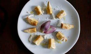 Artichauts poivrade à l'huile d'olive et parmesan.