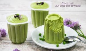 Panna cotta aux petits pois et wasabi