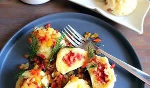 Boulettes de pommes de terre et ragoût de carottes