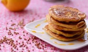 Pancakes kasha, amande et citron