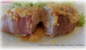 Filets de poulet mozzarella jambon cru fumé