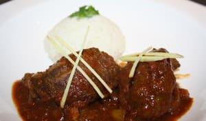 Joues de porc au curry de Goa Vindaloo