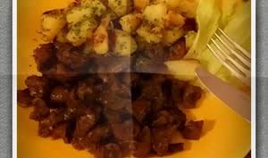Rognons de bœuf au vin rouge ou bouillon de bœuf