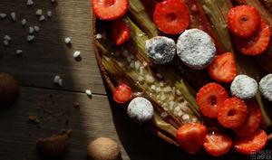 La tarte rhubarbe et gariguette