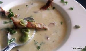 Soupe/crème de fèves fraîches