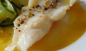 Filets de merlan sauce au beurre blanc
