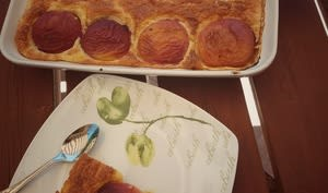 Gâteau de semoule aux nectarines weight watchers