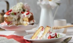 Layer cake fraises ricotta et miel