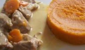 Blanquette de Veau à la Vanille et au Lait de Coco et sa Purée de Patate Douce