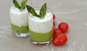 Mousseline d'asperges et crème de mascarpone