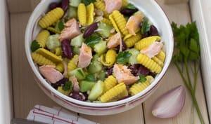 Salade de pâtes au saumon poché