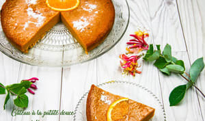Gâteau à la patate douce à l'orange