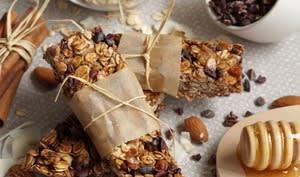 Barres de granola amande, coco et miel