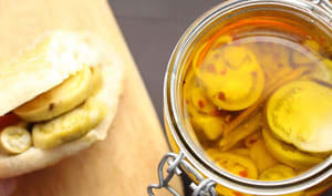 Pickles de tomates vertes à l'huile