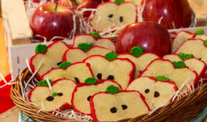 Tranches de pomme sablées