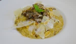 Risotto aux cèpes et son écume de mozzarella di Buffala