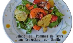 Salade de pommes de terre et crevettes aux épices