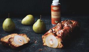 Gâteau aux poires entières & huile de noisette