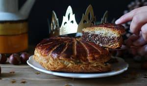 Galette des rois aux noisettes grillées et chocolat