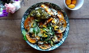 Salade d'hiver aux lentilles