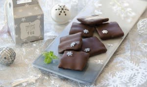 Chocolats fourrés à la menthe