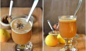 Cidre chaud au beurre et épices