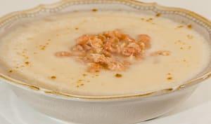 Soupe de chou-fleur aux crevettes