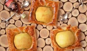 Carrés feuilletés pommes amande érable