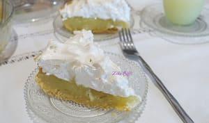 Tarte rustique au citron et meringue suisse