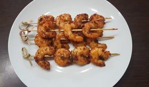 Brochettes de crevettes satay
