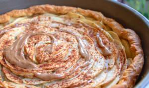 Tarte gourmande aux pommes et amlou