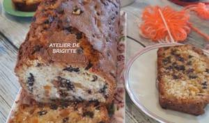 Cake orange confite et pépites de chocolat