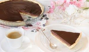 Tarte croustillante chocolat praliné