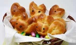 Brioches lapins pour Pâques