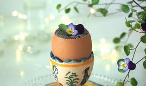 Oeuf surprise au chocolat pour Pâques