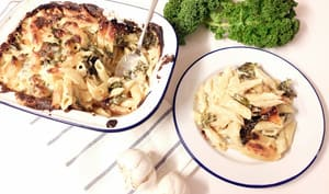 Mac and cheese au kale