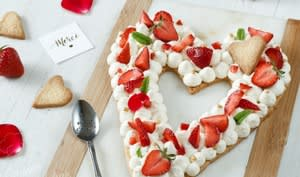 Love cake aux fraises et mascarpone
