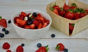 Salade de fruits rouges au basili