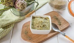 Caviar d'artichaut poivrade pour l'apéritf